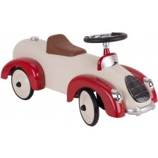 Детска кола за бутане Goki, бежово-червена -1