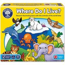 Детска образователна игра Orchard Toys - Къде живея -1