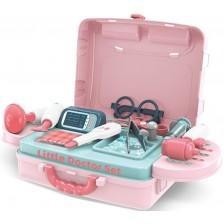 Детски игрален комплект Buba - Little Doctor, синьо-розов -1