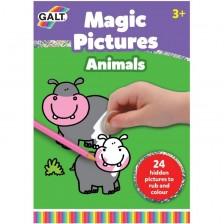 Детска книжка изтрий и оцвети Galt - Животни -1