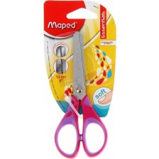 Детска ножица Maped Essentials - Kids, розова, 13 cm -1