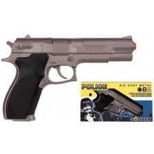 Детска играчка Gonher - Полицейски револвер с капси и звук -1