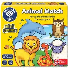 Детска образователна игра Orchard Toys - Животински съвпадения -1