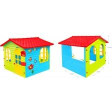 Детска къщичка Mochtoys - С дъска за рисуване, синьо зелена -1