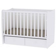 Детско легло Lorelli Matrix New - Бяло, 60x120 cm -1