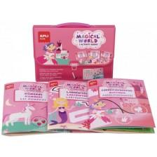 Детска чантичка с 3 занимателни книжки Apli - Приказен свят -1