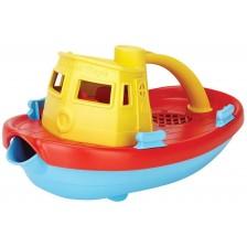Детска играчка Green Toys - Лодка влекач, жълта -1