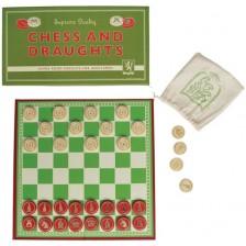 Детска игра 2 в 1 Rex London - Шах и шашки -1
