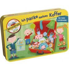 Детска магнитна игра Haba - Опаковам куфара, в метална кутия -1