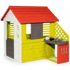 Детка къщичка Smoby - Maison Nature, с кухненска част -1