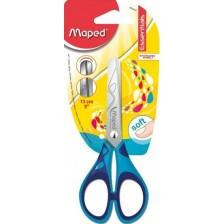 Детска ножица Maped Essentials - Kids, синя, 13 cm -1