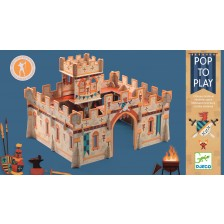 Детски 3D пъзел Djeco - Средновековен замък -1