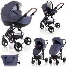 Детска комбинирана количка Lorelli - Crysta 3 в 1, Blue -1