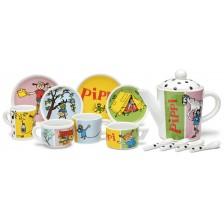 Детски порцеланов сервиз за чай Pippi - Пипи Дългото чорапче -1