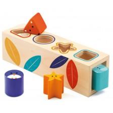 Дървена играчка за сортиране Djeco - Форми -1
