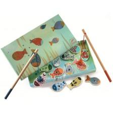 Игра с дървени фигурки с магнити Djeco - Магически риболов -1