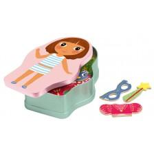 Детска игра с магнити Djeco - Феи и принцеси -1