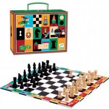 Комплект за игра в куфарче Djeco - Шах и дама -1
