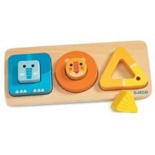 Дървена играчка за сортиране Djeco - Volubasic -1