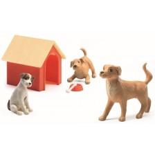 Детски комплект Djeco - Домашни животни Кученца -1