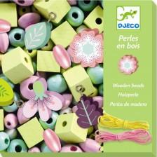 Творчески комплект Djeco - Създай бижута с цветя, 450 мъниста -1