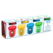Комплект пластилин Djeco - 4 цвята -1