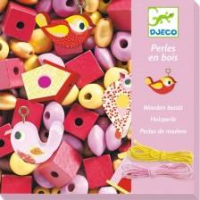 Творчески комплект Djeco - Създай бижута с птички, 450 мъниста -1