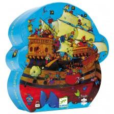 Детски пъзел Djeco от 54 части - Лодката на Барбароса -1