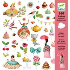 Стикери Djeco - Принцеси на чаено парти, 160 броя -1