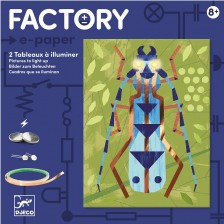 Комплект направи си с електричество Djeco - Картини Insectarium -1