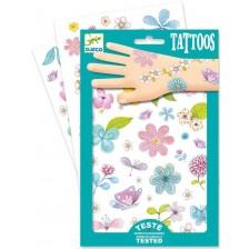 Детски татуировки Djeco - Бляскави цветя -1