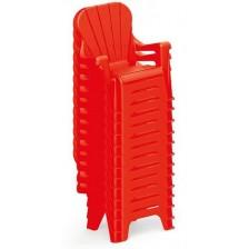Детско столче Dolu - Червено, с облегалка -1