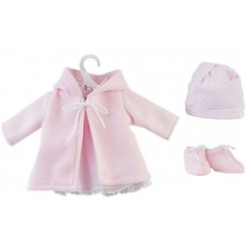 Дрехи за кукла Asi - Розово палтенце за кукла Мария, 43 cm -1