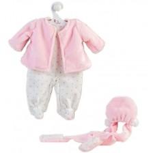 Дрехи за кукла Asi - Розово палтенце и шапка за кукла Мария, 43 cm -1