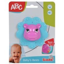 Дрънкалка Simba ABC - Животинче, Хипопотам -1