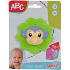 Дрънкалка Simba ABC - Животинче, Маймунка -1