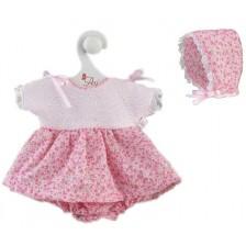 Дрехи за кукла Asi - Рокля и шапка за кукла Коке, 36 cm -1