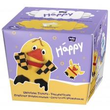 Двуцветни сухи кърпички Bella Happy - Пиле, 2x40 броя -1