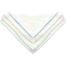 Двуслойни памучни кърпи Sevi Baby  - Сини, 10 броя -1