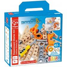 Дървен конструктор Hape Junior Inventor - Основен комплект -1