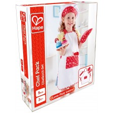 Комплект за малки готвачи Hape - Престилка с шапка, ръкавица и ръкохватка -1