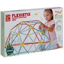Конструктор от бамбукови пръчки Hape Flexistix - Геодезични конструкции -1