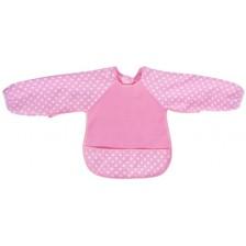 Еко лигавник с ръкави Sevi Baby - розов -1