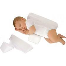 Еко възглавничка за спане настрани Sevi Baby - Бяла -1