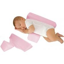Еко възглавничка за спане настрани Sevi Baby - Розова -1