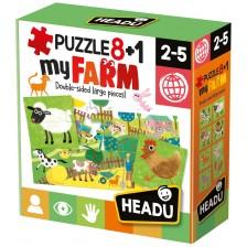 Образователни пъзели Headu - Ферма, 8+1 -1