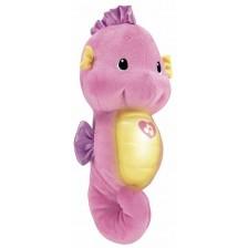 Плюшена играчка Fisher Price - Морско конче, розово, светещо и музикално -1
