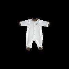 Бебешко гащеризонче с предно закопчаване For Babies - Organic, 0 месеца -1