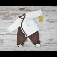 Сет камизолка и ританки For Babies - Коте, 3-6 месеца -1