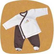 Сет камизолка и ританки For Babies - Охлюв, 1-3 месеца -1
